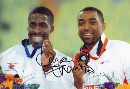 Dwain Chambers, 100m sprinter, signed 12x8 inch photo.